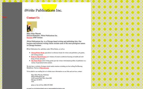 Screenshot of About Page iwriteinc.com - iWrite Publications Inc. contact us - captured Oct. 6, 2014