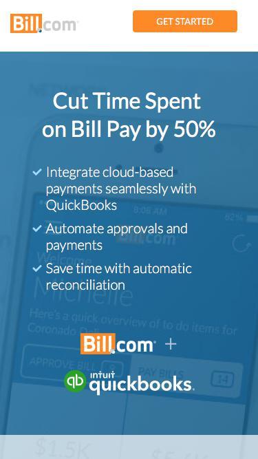 Cut Time Spent on Bill Pay in Half - Bill.com + Intuit QuickBooks