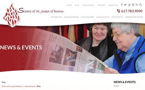 Screenshot of Blog csjboston.org - Contact Information » Sisters of St. Joseph of Boston - captured July 1, 2018