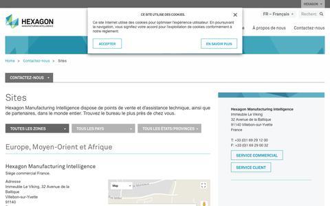 Screenshot of Locations Page hexagonmi.com - Sites | Hexagon Manufacturing Intelligence - captured Nov. 25, 2017