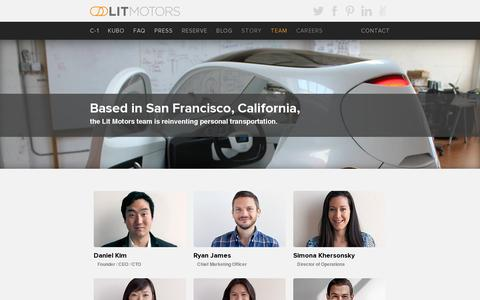 Screenshot of Team Page litmotors.com - Team | Lit Motors - captured July 20, 2014