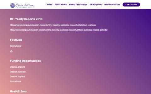 Screenshot of Press Page rhodawilson.com - contact - captured Oct. 20, 2018