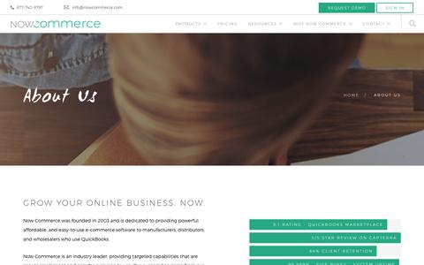 Screenshot of About Page nowcommerce.com - About Us - Now Commerce - captured Jan. 11, 2016