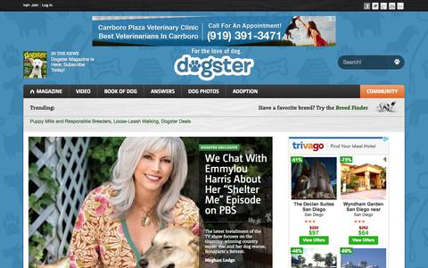 Screenshot of Home Page dogster.com - Dogs - Dogster - captured Oct. 1, 2015