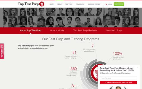 Screenshot of About Page toptestprep.com - Tutoring | Test Prep | Admissions Consulting - captured Dec. 11, 2016