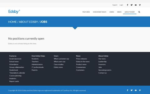 Screenshot of Jobs Page edsby.com - Jobs | Edsby - captured July 18, 2014