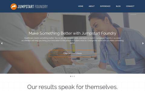 Screenshot of Home Page jsf.co - Jumpstart Foundry - captured Jan. 25, 2015
