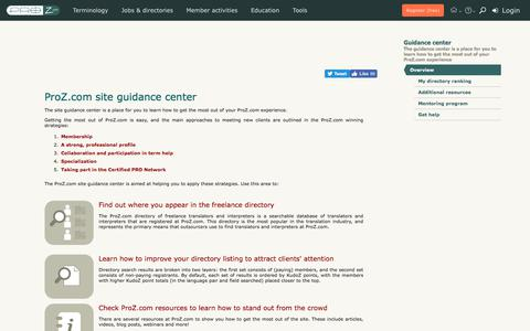 Guidance center | ProZ.com