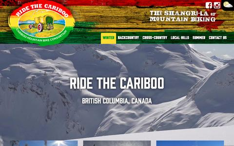 Screenshot of Home Page ridethecariboo.ca - Winter in The Cariboo - Ride The Cariboo - captured Nov. 17, 2018