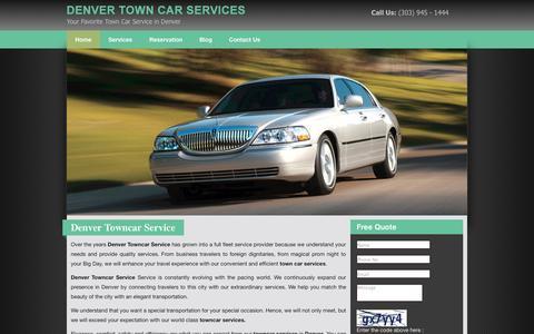 Screenshot of Home Page denvertowncarservice.net - Denver Towncar Service - captured Sept. 30, 2014