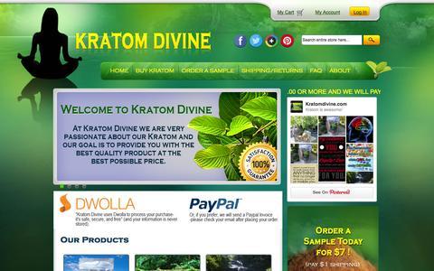 Screenshot of FAQ Page kratomdivine.com - Buy Kratom | Mitragyna Speciosa Maeng Da Kratom | Kratom Capsules at Kratomdivine.com - captured Oct. 6, 2014