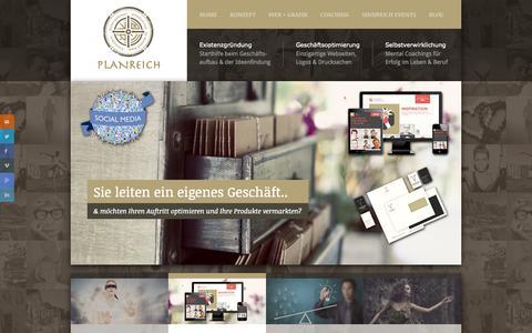 Screenshot of Home Page planrei.ch - PLANREICH zur Existenzgründung, Geschäftsoptimierung und Selbstverwirklichung - captured Oct. 1, 2014