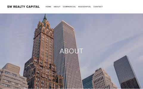 Screenshot of About Page swrealtycapital.com - ABOUT — SW Realty Capital - captured Oct. 1, 2018
