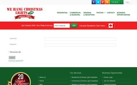 Screenshot of Login Page wehangchristmaslights.com - Partner Login - - captured Nov. 7, 2017