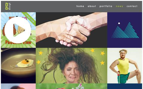 Screenshot of Press Page greensplashdesign.com - Marketing on our minds, branding on our brains – greensplash design - captured Sept. 30, 2018