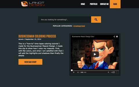 Screenshot of Blog lanotdesign.com - Blog   Lanot Design - captured Oct. 3, 2014