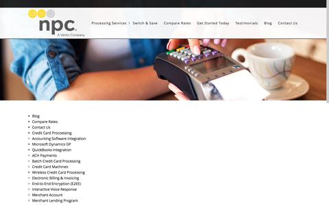 Screenshot of Site Map Page creditcardprocessingsandiego.net - NPC – Credit Card Processing for Business in San Diego | Sitemap - NPC - Credit Card Processing for Business in San Diego - captured Nov. 30, 2016