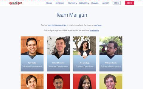 Team Mailgun - Transactional Email API Service for Developers - Mailgun : Transactional Email API Service for Developers – Mailgun