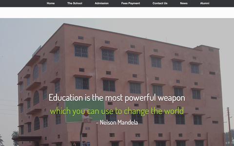 Screenshot of Home Page dhsbgp.com - Divine Happy School, Bhagalpur - captured Sept. 24, 2016