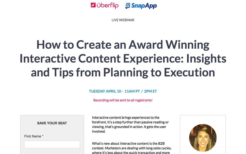 How to Create an Award Winning Interactive Content Experience