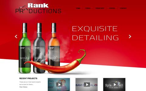Screenshot of Home Page rankproductions.com - Rank Productions   Photo and Video Marketing Perfection - captured Sept. 19, 2014