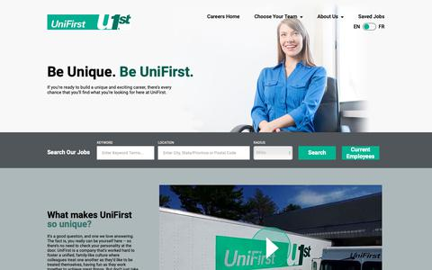 Screenshot of Jobs Page unifirst.com - Working at UniFirst Corporation | Jobs and Careers at UniFirst - captured Oct. 19, 2018