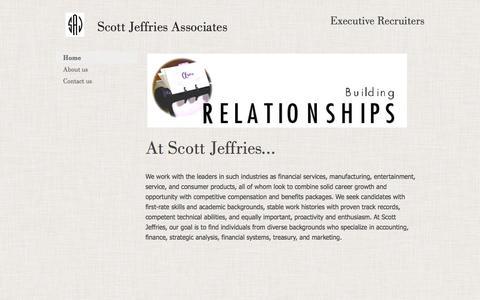 Screenshot of Home Page scottjeffries.com - Home - captured Feb. 4, 2016