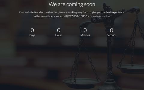 Screenshot of Home Page amlawfirm.com - AM Law Firm - captured Oct. 8, 2017