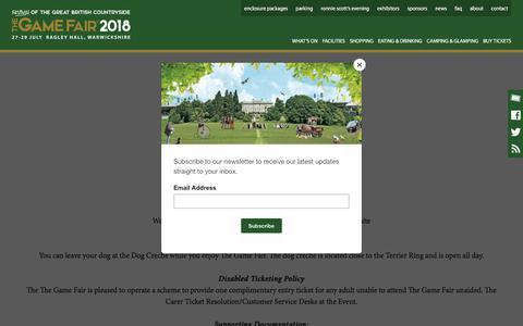 Screenshot of FAQ Page thegamefair.org - FAQ - The Game Fair - captured July 4, 2018