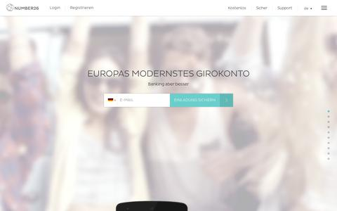 Screenshot of Home Page Blog number26.de - Europas modernstes Girokonto | NUMBER26 - captured July 3, 2015