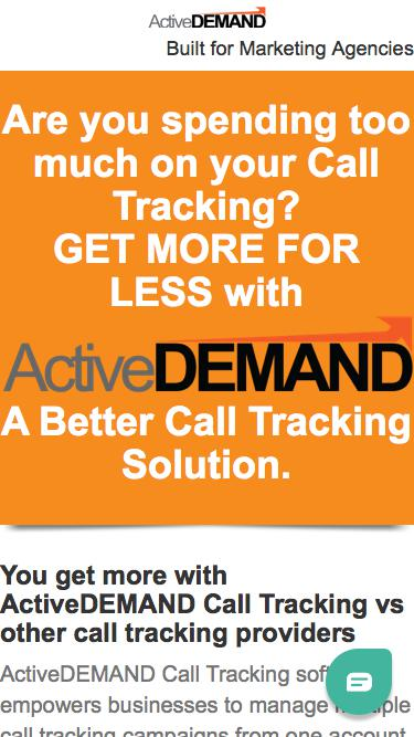 ActiveDEMAND: A Better Call Tracking Solution