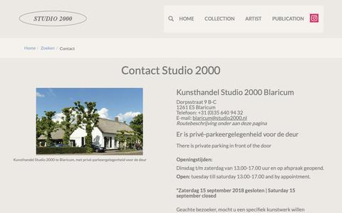 Screenshot of Contact Page studio2000.nl - Contact   Kunsthandel Studio 2000 - captured Oct. 16, 2018
