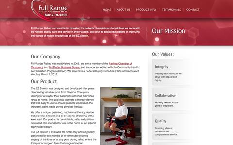 Screenshot of About Page fullrangerehab.com - About Us | Full Range Rehab - captured Sept. 30, 2014