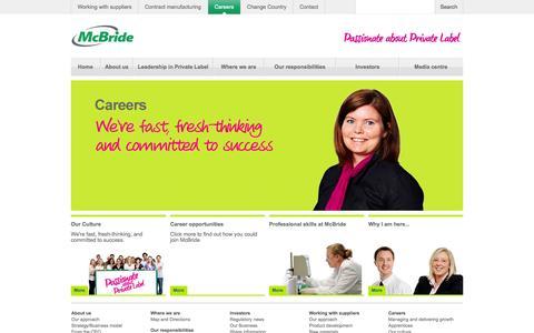 Screenshot of Jobs Page mcbride.co.uk - Careers | McBride - McBride - captured Oct. 4, 2014
