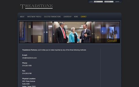 Screenshot of Contact Page treadstone.com - Contact | Treadstone - captured Oct. 7, 2014