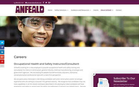 Screenshot of Jobs Page anfeald.com - Careers - - Anfeald - captured Oct. 3, 2018