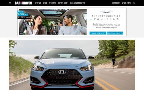 Screenshot of Home Page caranddriver.com - New Cars, 2019 and 2020 Car Reviews, Pictures, and News - Car and Driver - captured Aug. 3, 2019