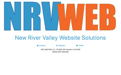 Screenshot of Home Page nrvweb.net - NRV Web One - New River Valley Website Solutions - captured Feb. 19, 2020