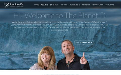 Screenshot of Home Page theplanetd.com - The Planet D: Adventure Travel Blog - captured Oct. 1, 2015