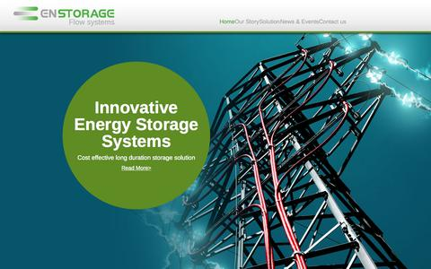 Screenshot of Contact Page enstorageinc.com - En Storage | Innovative energy system - Enstorage - captured July 3, 2015