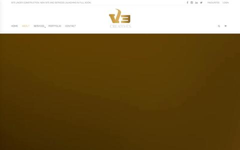 Screenshot of About Page v3creatives.com - About Us - V3 Creatives - captured Oct. 27, 2014