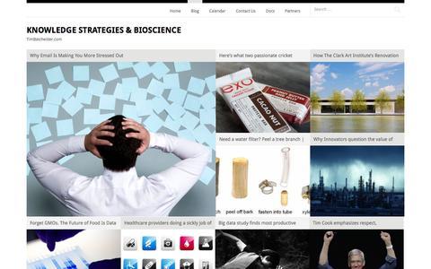 Screenshot of Blog timbatchelder.com - Blog | Knowledge Strategies & Bioscience | TimBatchelder.com - captured Sept. 30, 2014