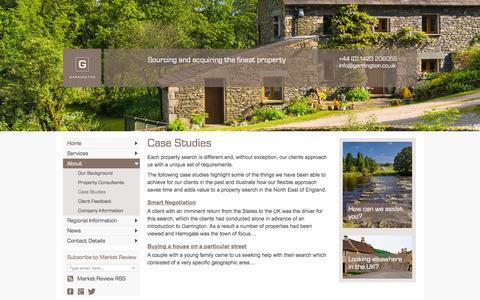 Screenshot of Case Studies Page garringtonnortheast.co.uk - Case studies | Using a property finder in Yorkshire, Northumbria - captured April 23, 2016
