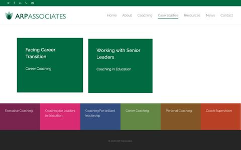 Screenshot of Case Studies Page arpaltd.co.uk - Case Studies – ARP Associates - captured Oct. 2, 2018