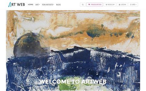 Screenshot of Home Page artweb.com - Artist Websites | Artists Website & Art Web Page Templates For Artwork - captured Nov. 14, 2015