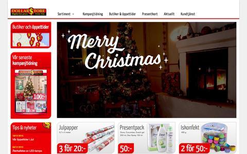 Screenshot of Home Page dollarstore.se - Start - Dollarstore - captured Jan. 20, 2016