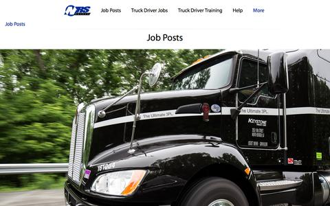 Screenshot of Jobs Page nationalretailsystems.com - Job Posts / Ultimate 3PL Logistics / NRS - captured Feb. 17, 2016
