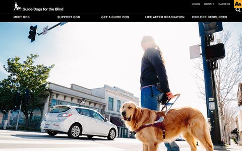 Screenshot of Jobs Page guidedogs.com - Guide Dogs For The Blind | Careers - captured Nov. 16, 2016