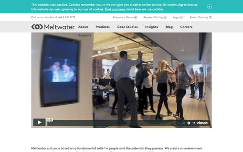 Screenshot of Team Page meltwater.com - Our People Are Our Business — New Zealand - Meltwater - captured April 1, 2018