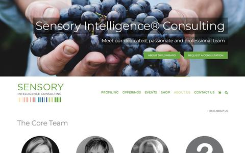 Screenshot of About Page sensoryintelligence.com - Sensory Intelligence® Consulting wants to restore human connections - captured Feb. 24, 2020